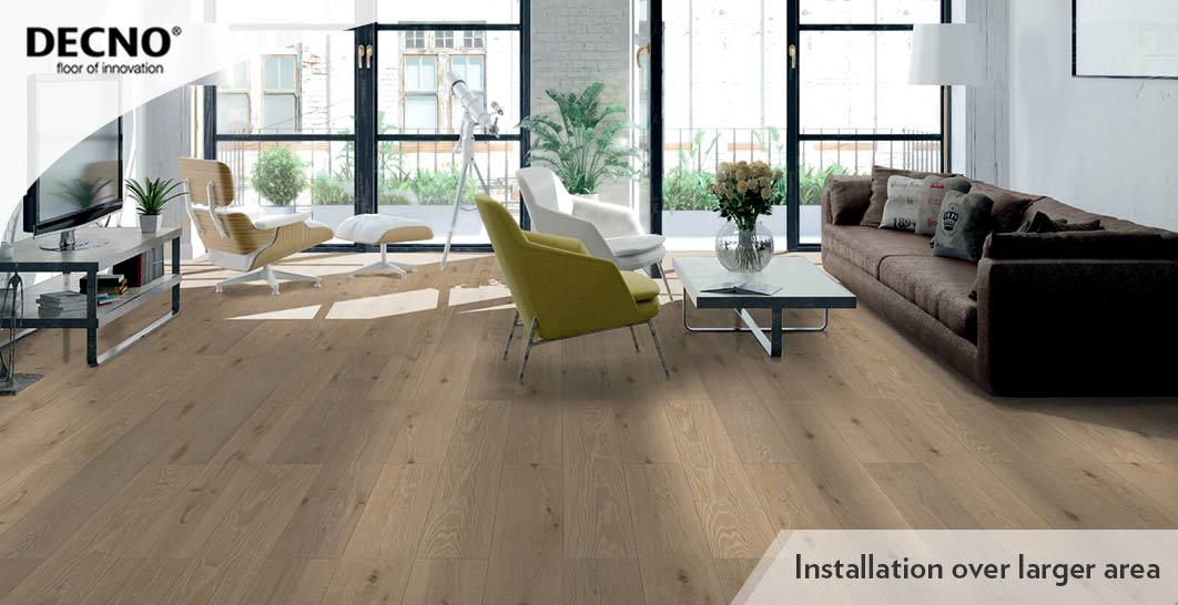 With XPE Waterproof Rigid Core Flooring