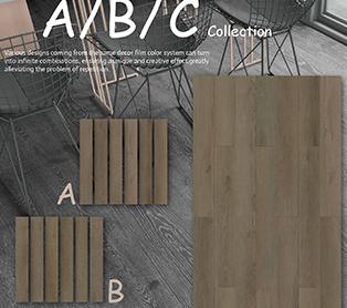 SPC Flooring A\B\C Decor Film Pattern Design